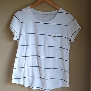 Simply Styled Cotton Blend Shirt, Nautical Stripe